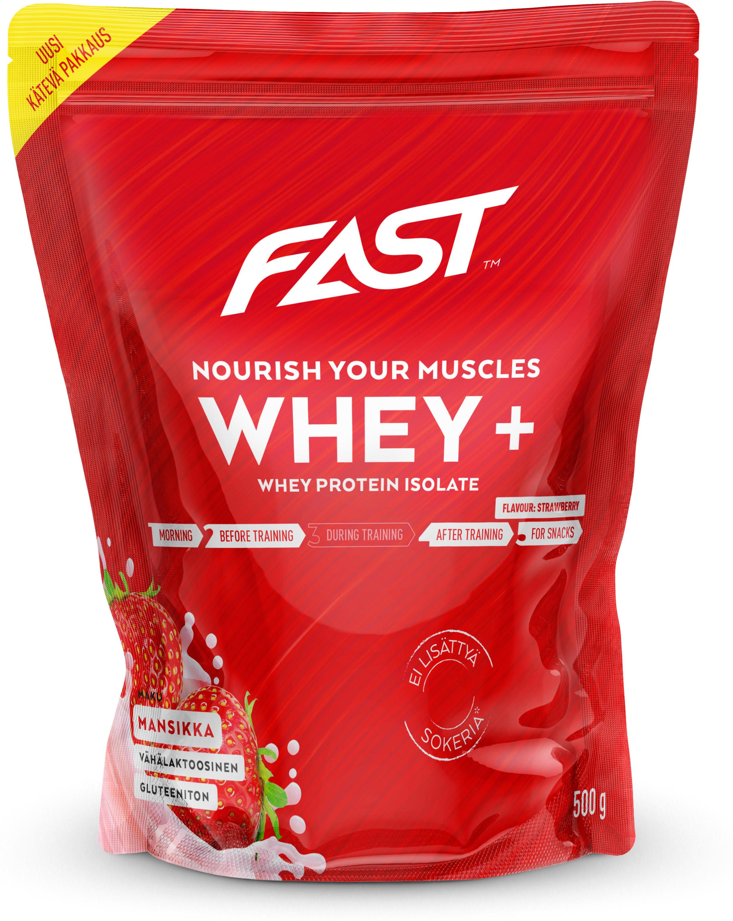 Poeder FAST Whey+ 500 g strawberry